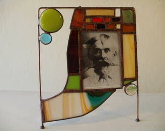 Strange Stained Glass Picture Frame