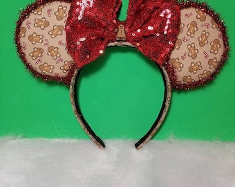 Christmas Ears, Gingerbread Ears, candy cane ears, Grand Floridian Gingerbread Ears, Mickey's Very Merry Christmas Party Minnie Ears