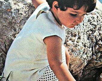 Sundress Crochet Pattern Child Crochet Dress Ages 3 to 5 Years Girl Toddler Vintage Paper Original, NOT a PDF