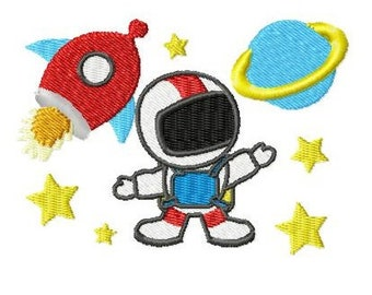 Embroidery Design Outer Space 4'x4' - DIGITAL DOWNLOAD PRODUCT