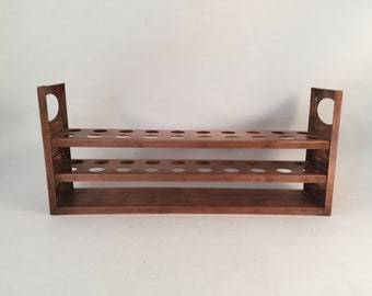 Vintage Copper Paint Brush Numbered Rack, 3 Tier for Holding Brushes, Pens, Pencils, Tubes, Numbered Rack, Copper Rack with 20 Holes