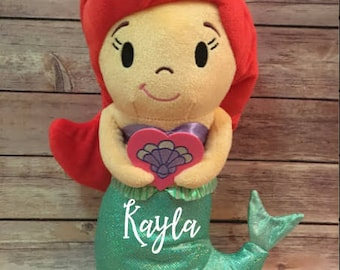 Personalized Little Mermaid Plush, Personalized Ariel, Personalized Mermaid Stuffed Animal -- Free Shipping!!