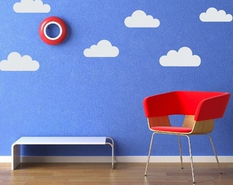 Cloud Wall Decals, Vinyl Decal Set, Childrens Wall Decals, Cloud Stickers, Wall Art