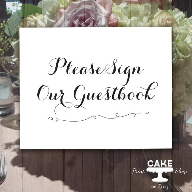 Please sign our guestbook wedding printables guestbook sign