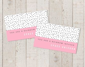Printable Compliment Cards - Instant Download Encouragement Card Leslie Knope Quote - Space Unicorn Inspirational Card Parks and Recreation