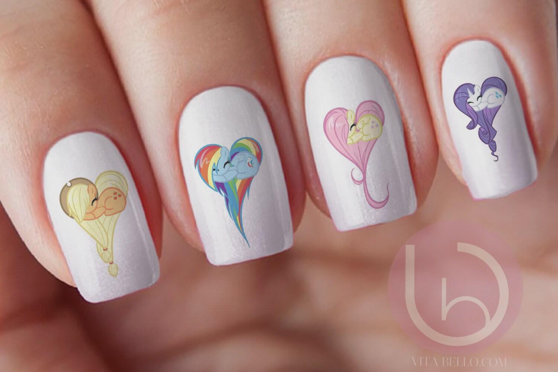 My little pony nail decal rarity pony pinky pie pony zoom prinsesfo Gallery