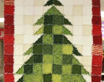 STPQ5 Christmas Tree Rag Quilt Pattern (paper)