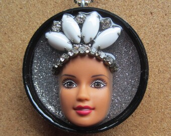Heavenly - upcycled Barbie necklace