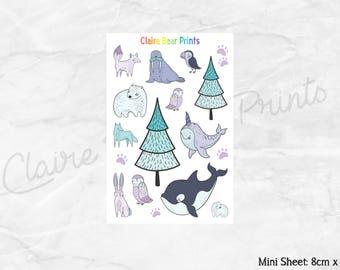 ARCTIC ANIMALS Planner Stickers