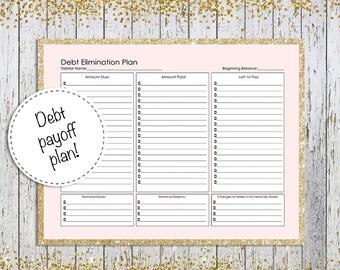 Debt Payoff Plan, Debt Tracker Printable, Budget Planner, Finance Planner Inserts, Debt Payoff, Debt planner, debt repayment planner print