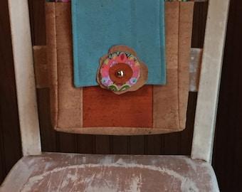 Cork Fabric Handbag Cork Leather Purse
