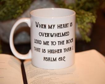 LEAD ME to the ROCK Psalm 61:2 Coffee Mug