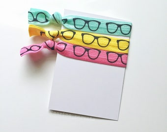 no crease elastic tie hairbands -- #plannergirl glasses in marine parents inspired colors