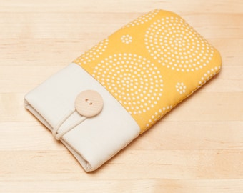 iPhone 8 sleeve / Iphone X sleeve / Galaxy S8 sleeve / faiphone 2 case  / Google Pixel sleeve - Yellow