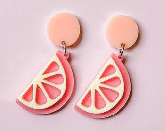 EARRINGS   Pink Lemon Squeeze: Big And Fancy Hello Miss May Drop Earrings