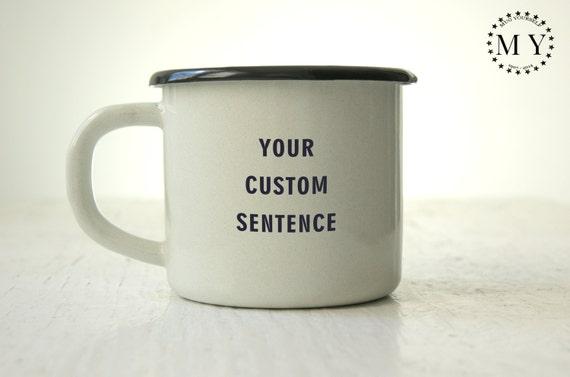 Célèbre Mug personnalisé tasse à café Mug émaillé personnalisé gravé PD48