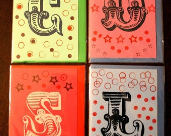 Alphabet greetings card