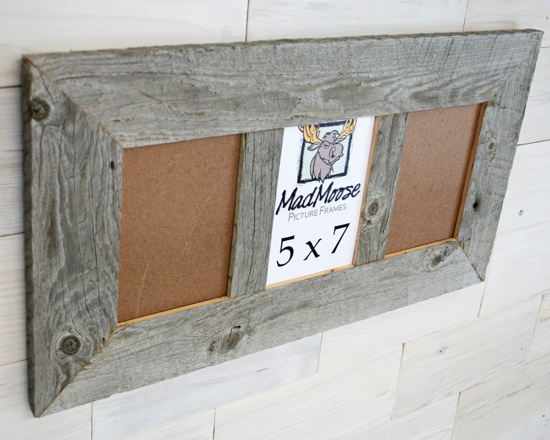 3 pane 5x7 Barn Wood [Thin x 3] Frame (barn wood frame barnwood ...