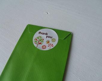 "Self-adhesive white ""Thank You!"" 3.5 cm (Nature)"