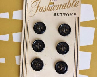 Splendid Vintage classic style carded Buttons. Sewing. Dressmaking. Retro