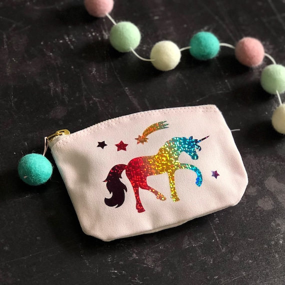 Pink Cotton Coin Purse
