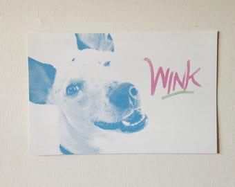 Wink Poster // Animalia Love a Lotsa Series