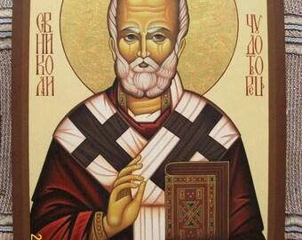 Saint Nicholas Byzantine icon.