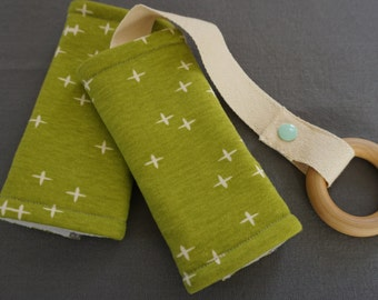 Grass Stars Organic Baby Carrier Teething Pads. Drool Pads. Baby Wearing. Protective Pads. Teething Pads. Ergo. Boba. Beco. Lillebaby.