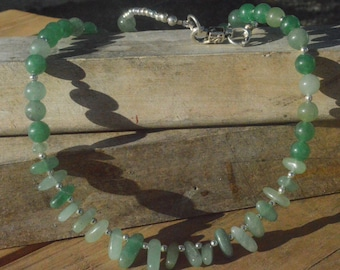 Green Amazonite Jade Jadeite Handmade Pendant Necklace Burning Man Tribal,Primitive,Boho Gemstone Artisan