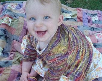 Love Me Tender Baby Cardigan Cute Knitting Pattern Sweater Kids to 8 years