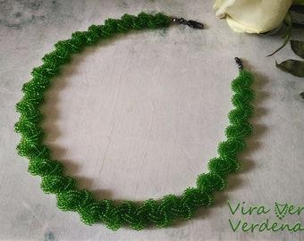 Pale Green Necklace, Sentimental Necklace, Summer Necklace, Green Jewelry, Summer Jewelry