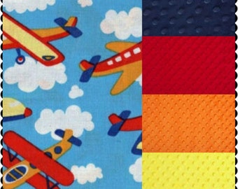 Carseat Canopy Aviator Airplane Minky Infant Carseat Cover