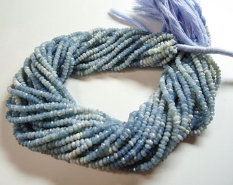 Multi Blue OPal Faceted Machine Cut Roundel Beads Size 4  mm String Lenth Is 13'' Inch Total String 3 .... .