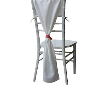 Chiavari Chair Hoods Ivory, Ivory Chair Drapes, Chair Backs, Ivory Chair Covers,   Wedding Chair Covers, Event Decor, Wedding Decorations