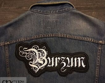 Big Back  Patch Burzum logo Black Metal