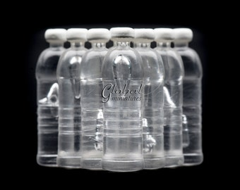 10pc/Set - Plastic Drinking Water Bottle Dollhouse Miniatures Kit Diorama Food & Groceries Decorating Display Supply