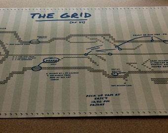 TRON Legacy DOT Matrix Grid map