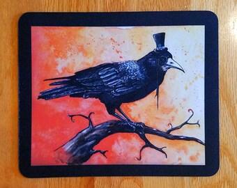 SALE! Mousepad - 23 Enigma, Watercolour Blackbird Rook