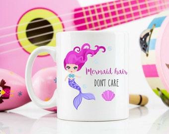Mermaid hair don't care mug 11oz