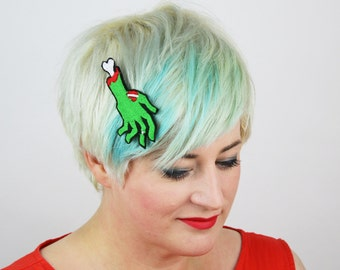 Zombie Hand Hair Clip, Halloween Accessory