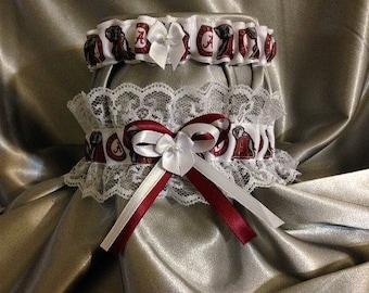 Alabama Crimson Tide Wedding Garter Set