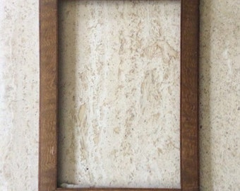 Antique Wooden Picture Frame Without Glass