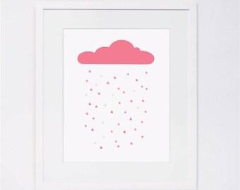 Pink Cloud Wall Art - Shower of Love