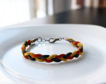Leather Braided Bracelet(w/color options)