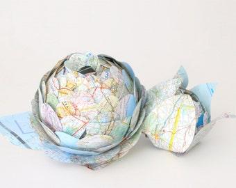 Paper Flower Centerpiece - Two Piece Artichoke