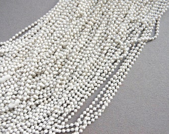 SALE--10 pcs 27inch, 1.5 mm White Ball Chain Necklaces