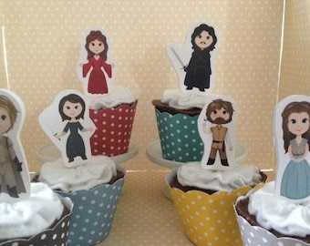 Game of Thrones Party Cupcake Topper Decorations - Set of 10