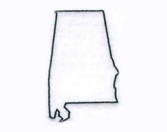 Alabama State Tea Towel   Kitchen Towel   Personalized Kitchen Towel   Embroidered Towel   State Towel   Alabama Gifts   Hand Towel