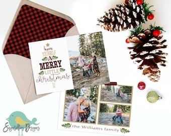 Holiday Card PHOTOSHOP TEMPLATE - Family Christmas Card 159
