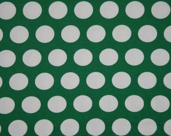 1 yard green tinsel Big dots